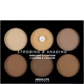 Absolute New York - Foundation - Strobing & Shading Highlight & Contour Palette Tan To Deep