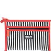 Absolute New York - Sminkväskor - Mono Stripe Satin Cosmetic Bag