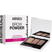 Andmetics - Ögonbryn - Brow Powder Trio