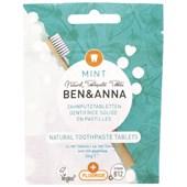 BEN&ANNA - Tooth tablets - Naturlig tandkräm Mint utan fluor