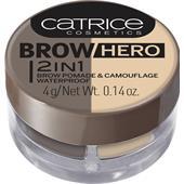 Catrice - Ögonbrynsprodukter - Brow Hero 2 In 1 Brow Pomade & Camouflage Waterproof