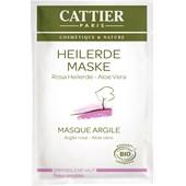 Cattier - Facial care - Rosa helande jord Mask för känslig hud