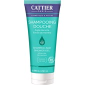 Cattier - Body cleansing - Vit helande jord & Mintextrakt  Sport Duschgel och Shampoo