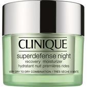 Clinique - Återfuktande hudvård - Superdefense Night Recovery Moisturizer, hudtyp 1/2