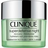 Clinique - Återfuktande hudvård - Superdefense Night Recovery Moisturizer, hudtyp 3/4