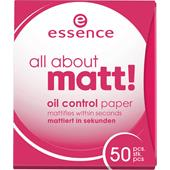 Essence - Puder & rouge - All About Matt Oil Control Paper