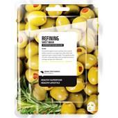 Farmskin - Masker - Superfood For Skin Refining Sheet Mask Olive