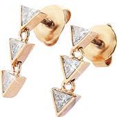 Gab & Ty by Jana Ina - Örhängen - Smyckeset triangel Örhängen med sex vita zirkoniastenar, roséguldplätering