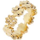 Gab & Ty by Jana Ina - Ringar - Ring Klöverblad med vita zirkoniastenar, pläterad i gult guld