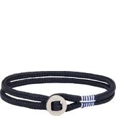 Pig & Hen - Rope Bracelets - Navy | Silver Don Dino