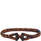 Pig & Hen - Rope Bracelets - Navy-Maple Orange | Black Icy Ike