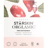 StarSkin - Cloth mask - Orglamic Face Mask Pink Cactus