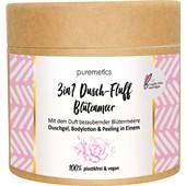 puremetics - Peelings & Masks - Sockerpeeling Blomsterhav No8 3-i-1 Dusch-Fluff