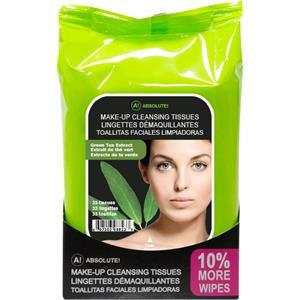 Absolute New York - Ansiktsvård - Make-up Cleansing Tissues Green Tea