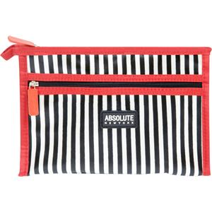 Absolute New York - Sminkväskor - Mono Stripe Satin Cosmetic Bag