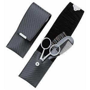 ERBE - Manicure Etuis - Carbonium-etui, 2 utensilier, svart