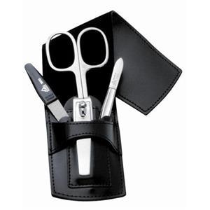 ERBE - Manicure Etuis - Design-etui, 4 delar, svart