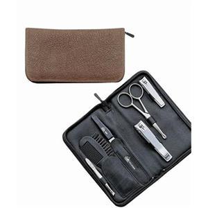 ERBE - Manicure Etuis - Etui av vattenbuffel- och Juchten-läder 6 utensilier