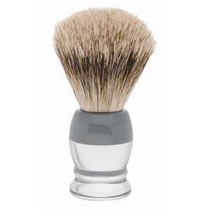 Becker Manicure - Rakborste - Rakborste grävlingshår, plasthandtag vitgrått