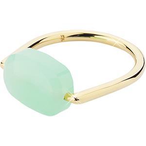 Gab & Ty by Jana Ina - Ringar - Ring Floating Stone, olivfärgad sten, guldplätering