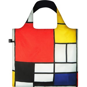 LOQI - Väskor - Väska Piet Mondrian Composition with Red, Yellow, Blue and Black Recycled